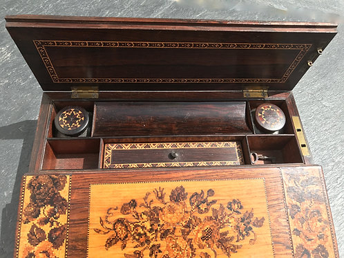 Antique Tunbridge Ware Writing Slope