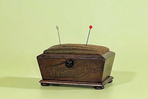 Antique Rosewood Pin Cushion Box