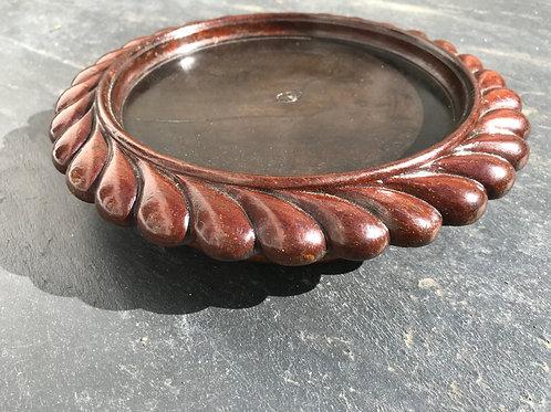 Antique Mahogany Wine Coaster -on castors