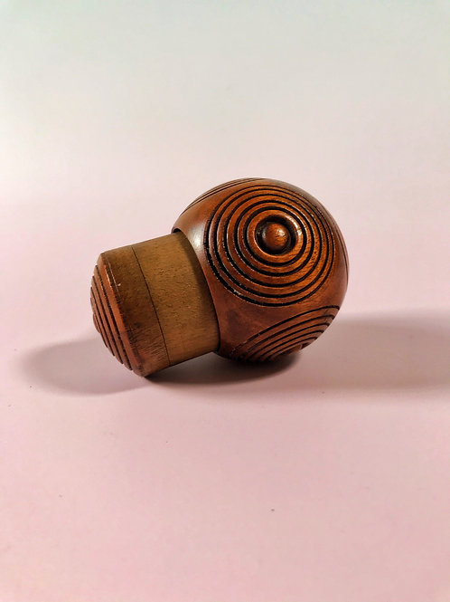 Antique Treen Puzzle Ball