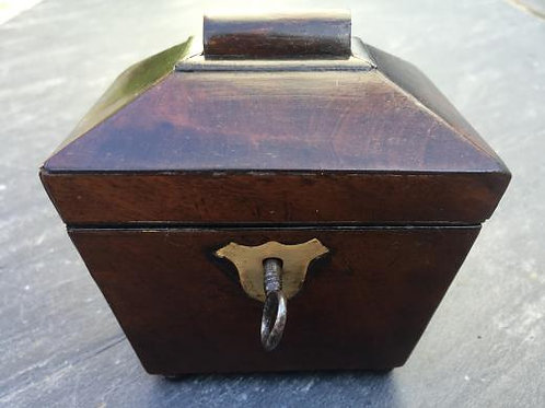 A Rare Miniature Tea Caddy with Side Drawer