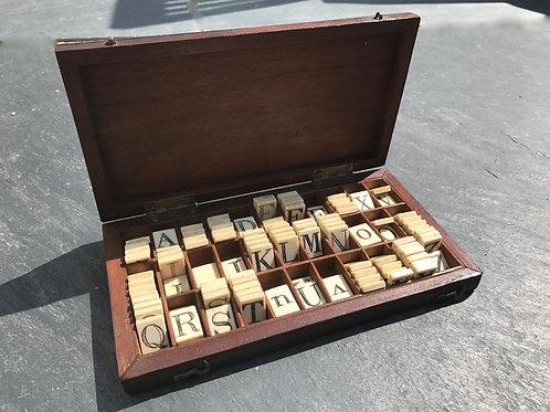 Antique Spelling / Alphabet box