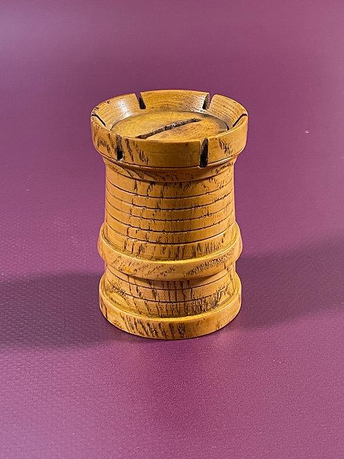 Antique Treen Castle Money Box