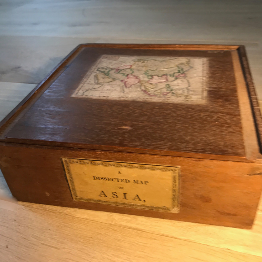 Antique treen dissected puzzle for sale
