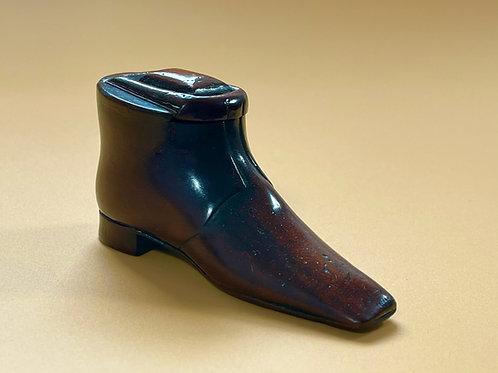 Antique Treen Snuff Shoe