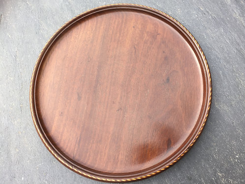 A 19th Century Small Mahogany Circular Tray