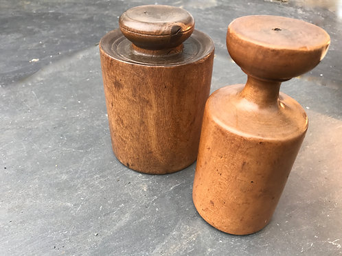 Antique Pork Pie Rammers or Moulds