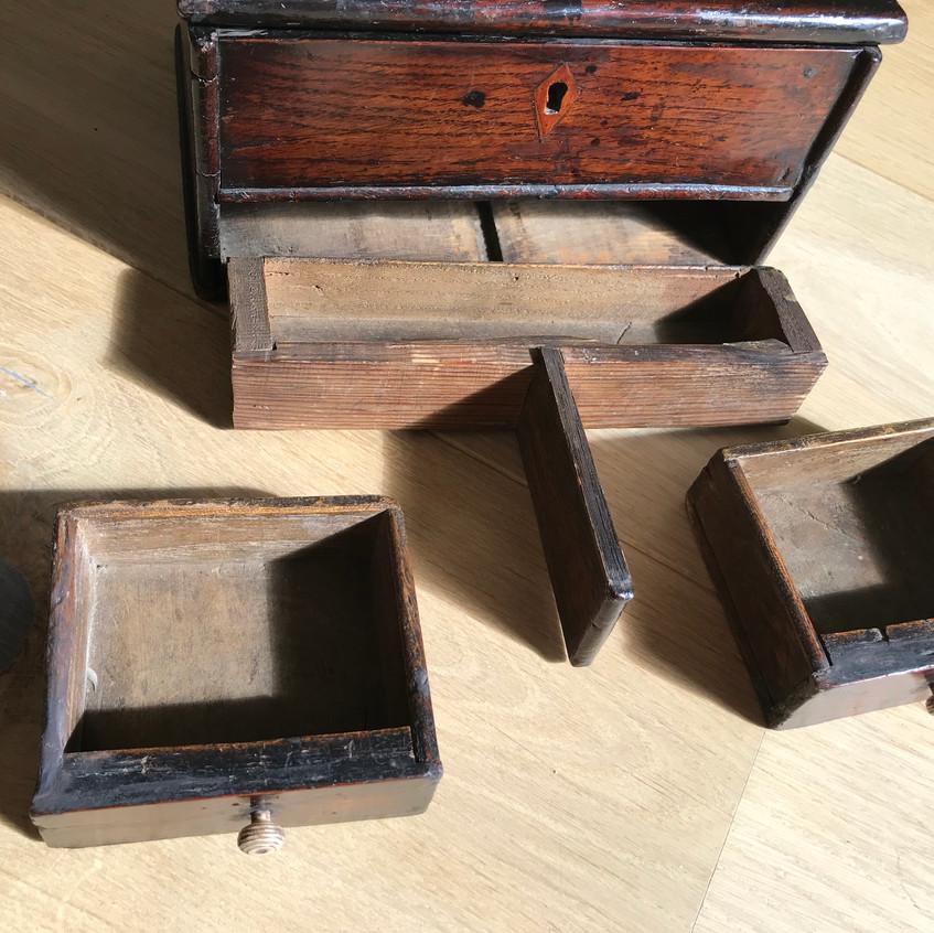 antique oak secret drawer box for sale o