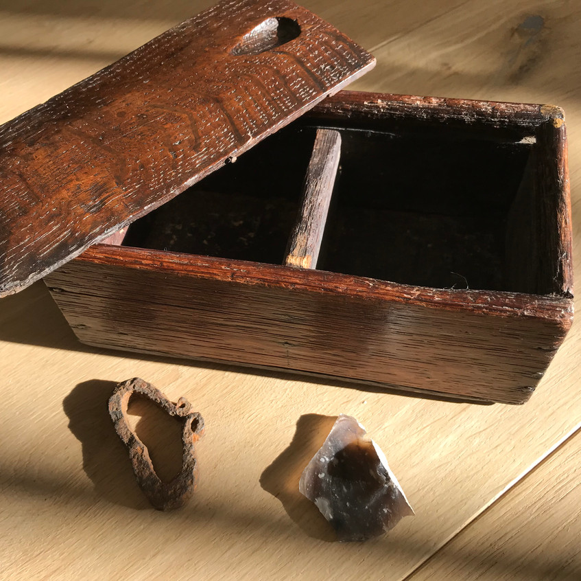 antique treen tinder box for sale, opus