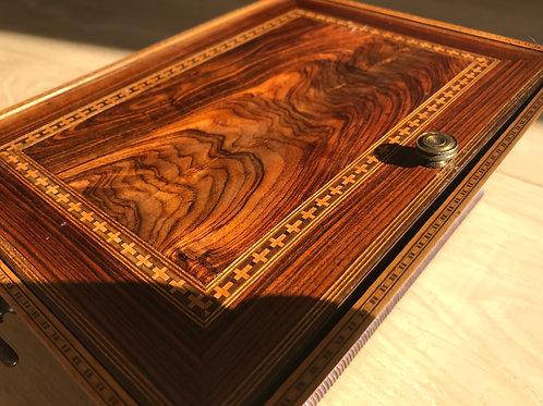 Antique Jewellery Box - well figured