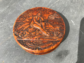 Pressed Wood Antique Snuff Boxes