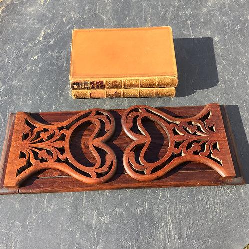 Antique Rosewood Book Slide