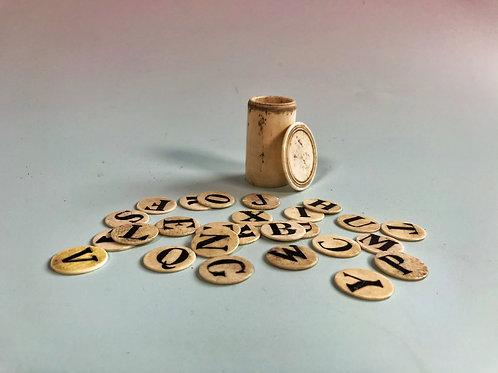 Antique Alphabet Set - complete