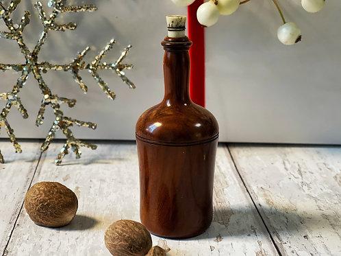 Antique Fruitwood Nutmeg Grater - Wine Bottle Shaped