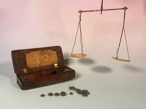Georgian Apothecary Scales & Weights
