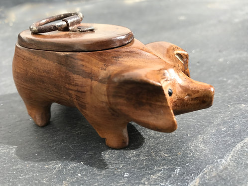 Antique Snuff Box - pig shaped