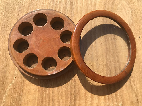 Antique Treen Watch  Makers Box