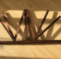 antique treen folding book-music stand f