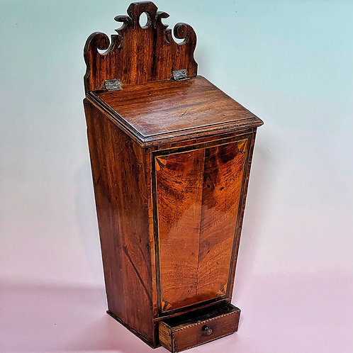 A Georgian Candle Box - with a drawer