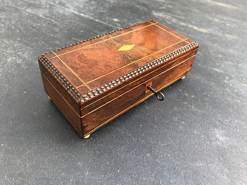 A Small  Rosewood Table Top Box
