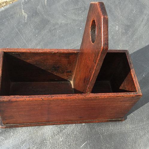 Antique Oak Housekeepers Box