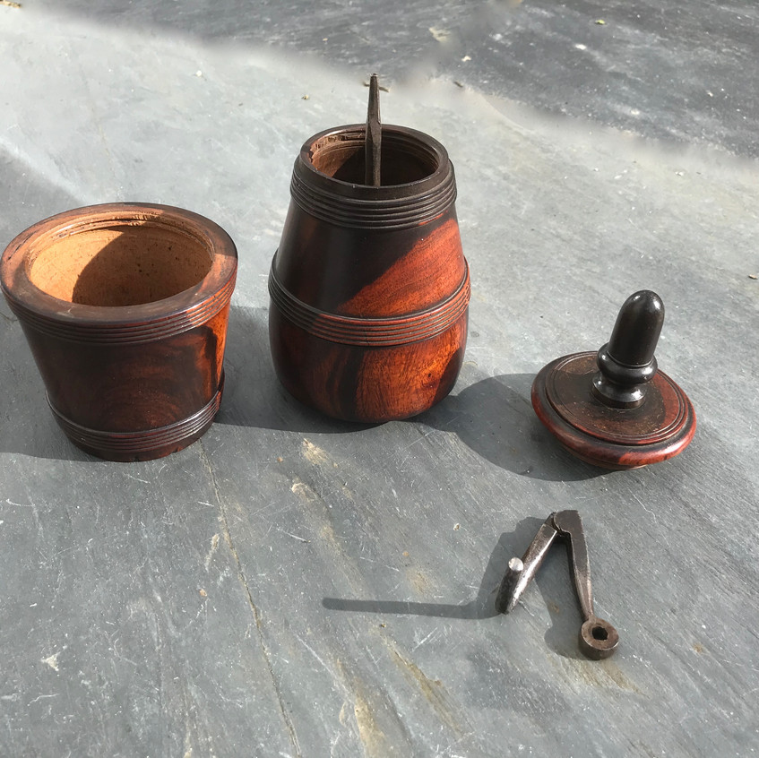 Antique treen coffee grinder for sale, Opus Antiques UK3