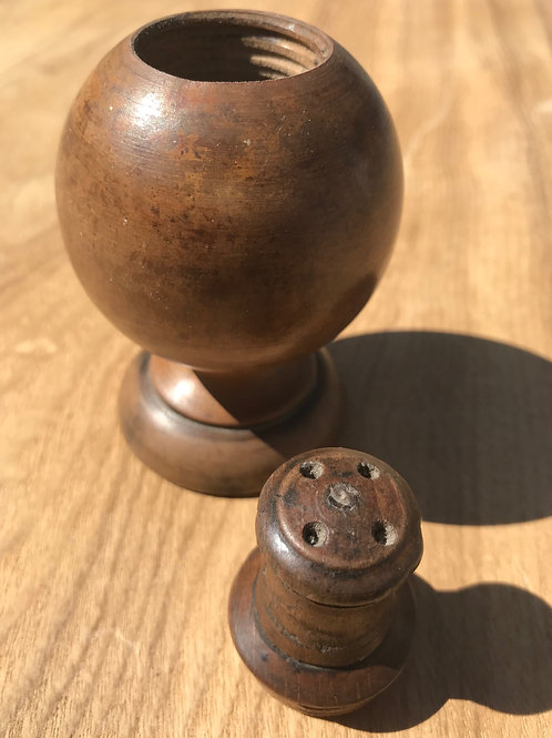 Antique Treen Pepper or Spice Pourer