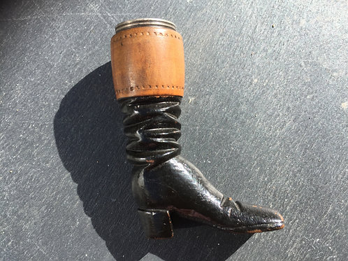 Antique Thimble Holder in the form of a Riding Boot