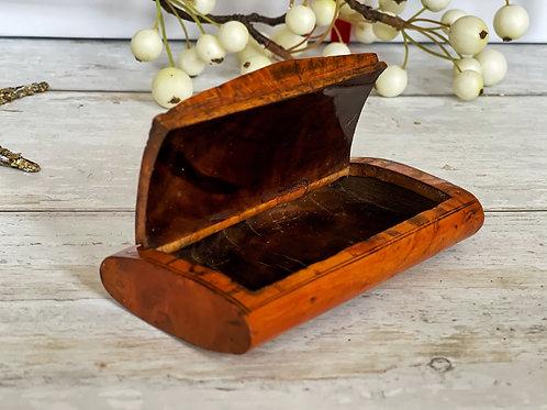 Antique Burr Birch Snuff Box