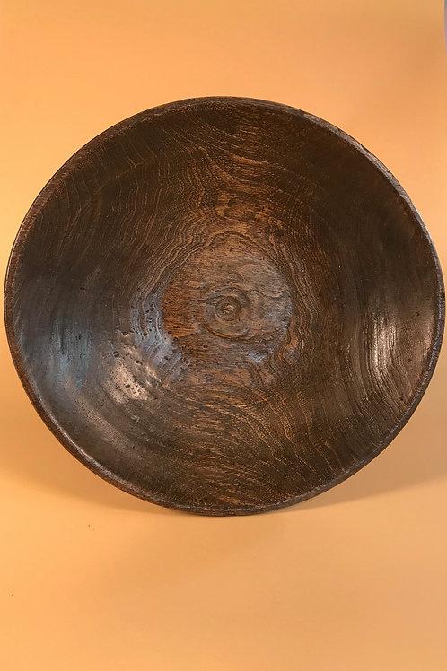 Antique Elm Serving Bowl