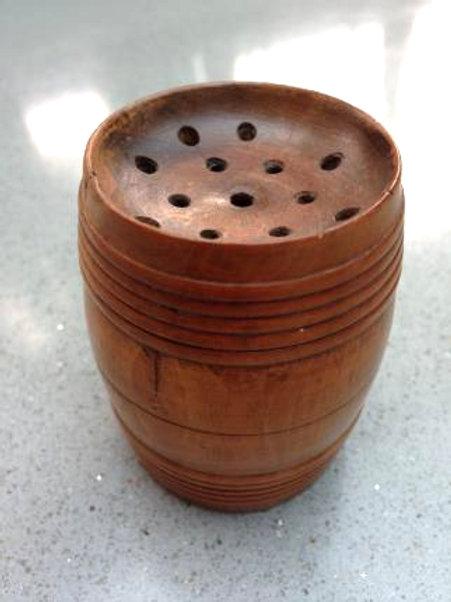 Antique Box Wood Pounce Pot