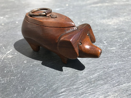 Antique Snuff Box in the form of a pig