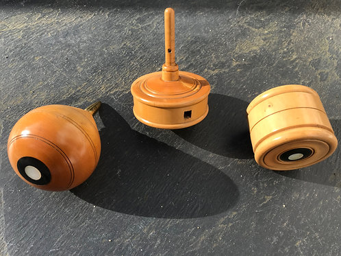 Antique Boxwood Spinning Tops