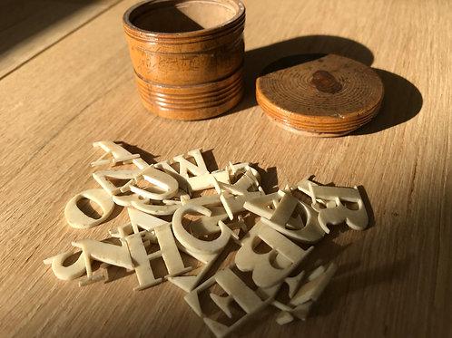 Antique Alphabet Set