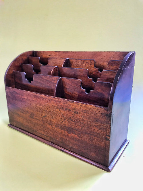 Antique Mahogany Stationery Rack