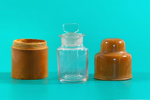 Antique Boxwood Case and Bottle - G Hilberstson & Sons London