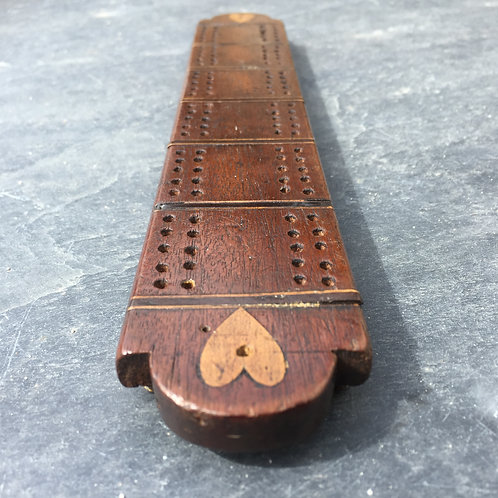 Antique Treen Cribbage Board