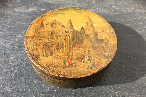 Antique Painted Bonbonnière Box