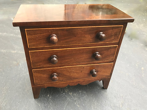 Antique Georgian Mini Chest of Drawers - ideal for stationery etc