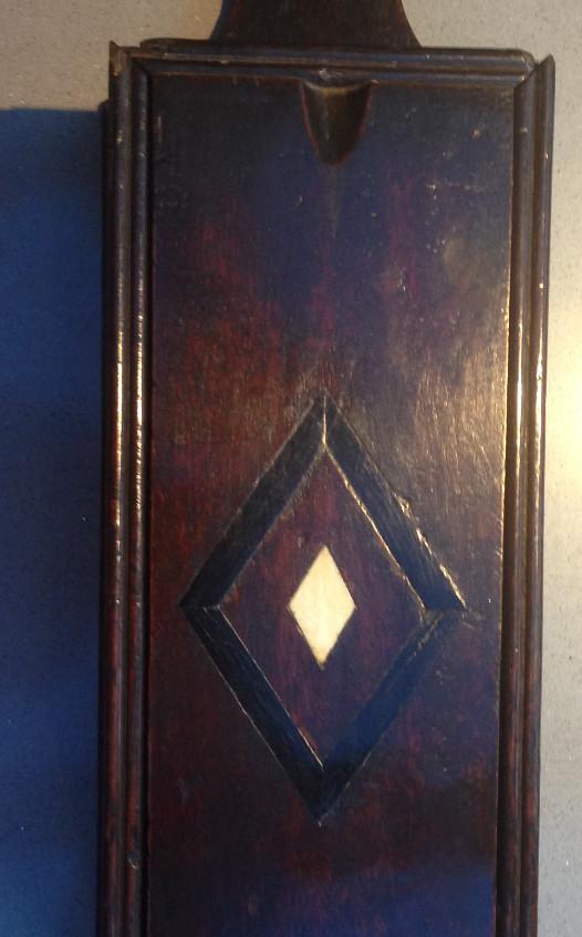 Antique oak candle box
