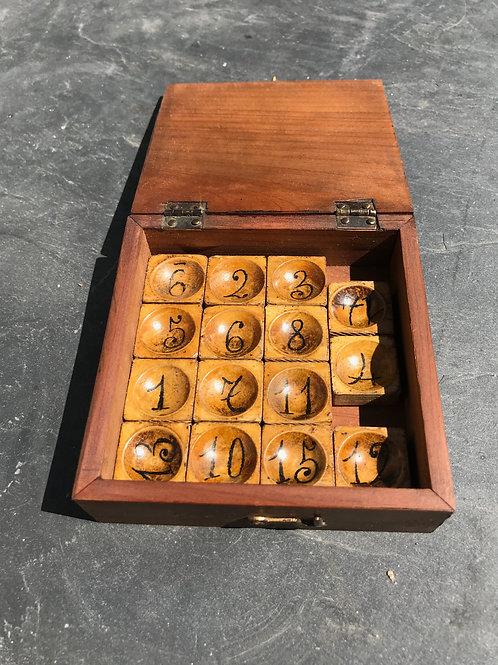 Antique treen puzzle game