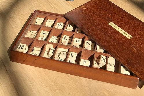 Antique Alphabet & Spelling Box