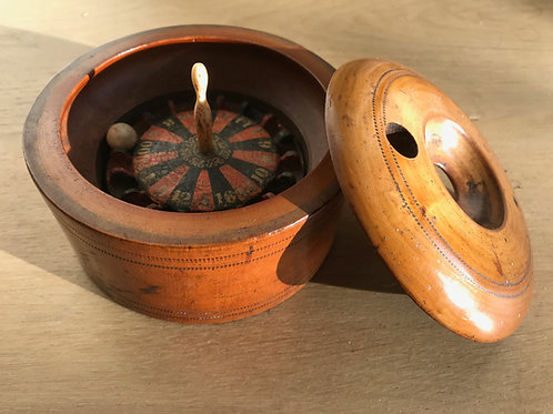 Antique Treen Roulette Game