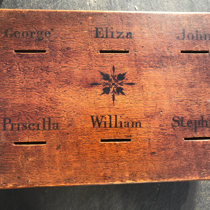 antique oak savings box, for sale Opus Antiques2