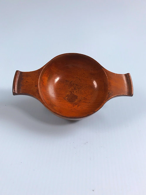 Antique Treen Quaich - makers name