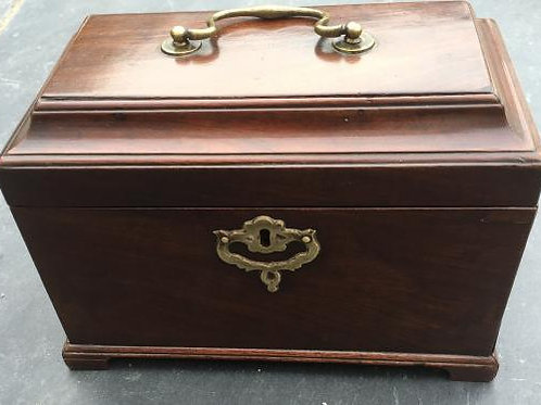 Antique Tea Caddy with Secret Drawer