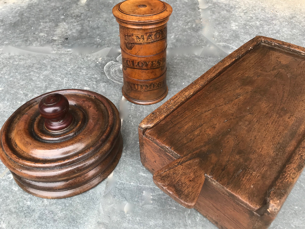 Antique Treen Spice boxes, Opus Antiques UK
