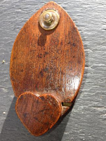 Antique Treen Snuff Box with Heart