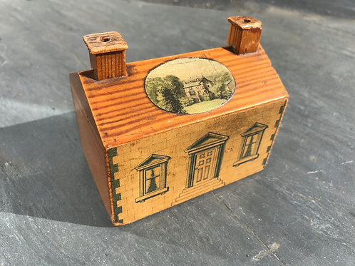 Antique Treen Scottish Money Box