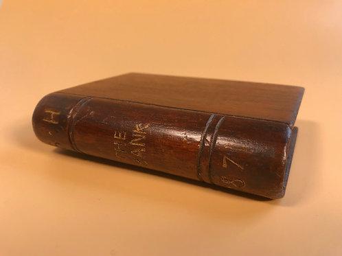 Antique Money Box - Book Shape - Dated 1871